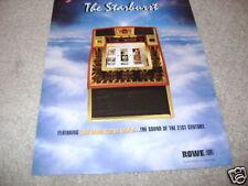 Starburst Cd rowe ami jukebox flyer