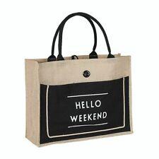 Women Linen Tote Large Casual Shoulder Bag Handbag Summer Beach Shopping Bag