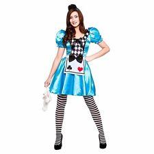 Adulto Carino STORYBOOK Alice nel paese delle meraviglie Fancy Dress Costume donna Regno Unito Taglia 6-24