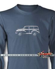 Austin Morris Minor Traveller Woody Wagon Long Sleeves T-Shirt  Multi Col. Sizes
