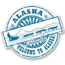 2 x Alaska Vinyl Sticker Laptop Travel Luggage #4534