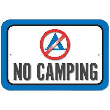 Plastic Sign No Camping