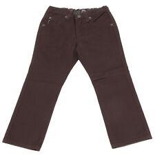 3768U pantalone bimbo ARMANI JEANS JUNIOR brown marrone trouser kid boy