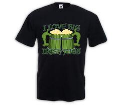 Irish Pub T-Shirt Love Irish Jugs Beer St Patrick Vintage Bier Trinker