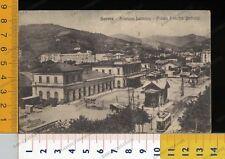 27172] SAVONA - STAZIONE LETIMBRO E PIAZZA UMBERTO 1916