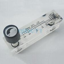 Sizes LZM-6T Water Panel Flowmeter Rotameter With Valve M18 Male G1/4 Female