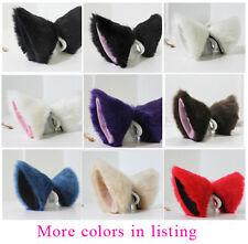 Anime Cosplay Costume Party  Long Fur Fox Neko Cat ears Hair clip Many colors