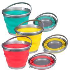 FALTEIMER 15 Liter für Camping Haushalt Klappeimer Eimer gelb, grün, rot