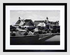 Hotel del Coronado BEACH CALIFORNIA Old BW Framed Art Print b12x487