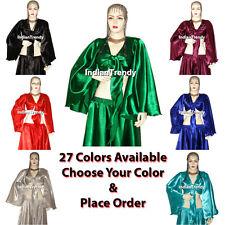 Satin Wrap Top Choli Belly Dance Costume Tribal Haut Blouse Gypsy Sleeve Blouse