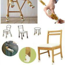 4 pièces chaise jambe chaussettes tissu Protection de sol tricot laine
