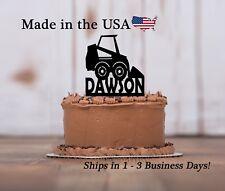 Skidsteer Cake Topper, Construction, Bobcat Custom Birthday Keepsake - LT1318