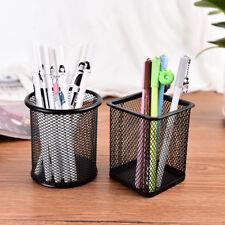 Office Desk Pen Pencil Pot Ruler Scissor Pen Holder Cup Mesh Organize ContaineJR