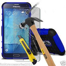 A prueba de choques de doble capa Resistente Funda Protectora Y Cristal Para Samsung Galaxy S4 Neo