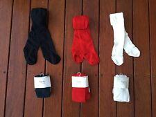 NEW Baby Girl Organic Cotton Tights Socks Stocking 0-4 years Ivory Navy Blu Red