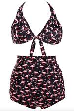Bathers * Plus Size High Waist Bikini Swimsuit * Flamingo Print
