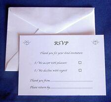 25 RSVP biglietti e buste ricevimento di nozze anniversario fidanzamento Taglia a7 c7