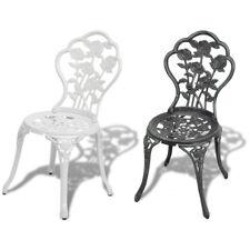 vidaXL Chaise de Bistro Mosaïque Meuble de Jardin 2 pcs Vert/Blanc Aluminium