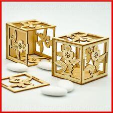 Scatoline porta confetti comunione calice ostia legno maschio femmina offerte