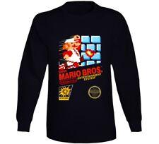 Super Mario Bros. Nes Box Art Retro Video Game Long Sleeve T Shirt