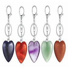 Love Stone Pendant Key Chain Car Key Bag Pendant Natural Amethyst Jewelry Gift
