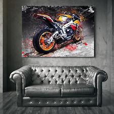 LEINWANDBILD HONDA CBR 1000 RR FIREBLADE MOTORRAD ABSTRAKT WANDBILDER CANVAS XXL