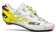 SIDI SHOT Road Cycling Shoes - Matte White/Yellow Fluo [Size: 40~47 EUR]