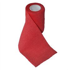 Elysaid First Aid Breathe Bandage Wound Bind Gauze Elastic Red 7.5cm*4.5m