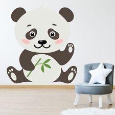 Mignon ours panda Garderie Sticker Muraux WS-50734