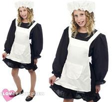 Niñas Victoriano Disfraz De Mucama Childs Vestido Elegante histórico pobre educación