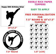 Personalizado Tae Kwon Do Arte Marcial/Pastel De Cumpleaños Cupcake Topper En Papel De Arroz