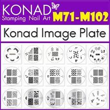 m71 - m102 konad Stamping image plates transfer manicure metal designs s1-s17