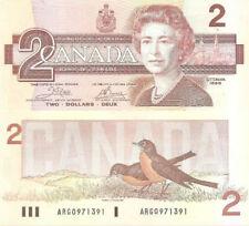 CANADA $2 P94A 1986 QUEEN ELIZABETH BIRD UNC CROW BOUEY SIGN BANK NOTE