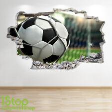 Estadio de fútbol PARED ADHESIVO 3D Look-Niños Niños Dormitorio de la etiqueta de la pared Z531