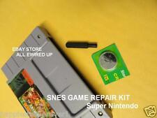 Super Nintendo SNES Cartridge Repair Kit Security Bit Battery Save Game Socket