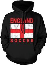 England Flag Soccer Design English Pride Hoodie Pullover