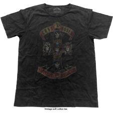 Guns N Roses T Shirt Appetite for Destruction Official Mens Vintage Finish