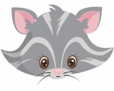 Tiergesicht Graue Katze Aufkleber Sticker Autoaufkleber Scheibenaufkleber