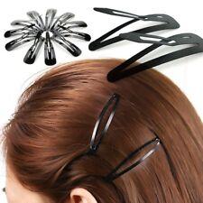 60pcs Black Color Metal Snap Hair Clips Hair pins Bendies Slide Grips Size 5/6CM