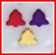 BRADS CHRISTMAS BELL 3 Color 18 Pk BULK 18mm BELLS  NEW