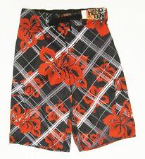 Hang Ten L Large Boys Hawaiian Hibiscus Swimwear Swim Cargo Board Trunks