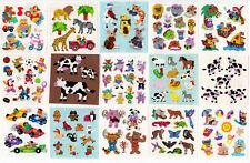 Vintage Sandylion Animal Bear Lion Cow Kromekote Glitter Stickers -You Choose
