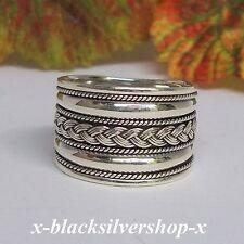 Bali Ring Silber 925 Herren Flechtring Flechtmuster Kordel