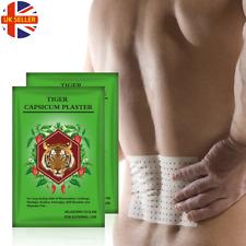 TIGER Capsicum Intonaco Caldo allevia il dolore sollievo muscolare Patch + Estratto al mentolo