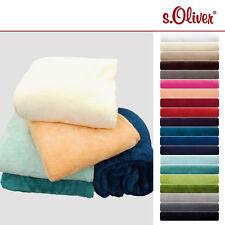 s.Oliver Wellsoft Decke Wohndecke Wolldecke Kuscheldecke tolle Farben