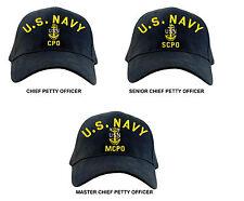 US Navy Chief Petty Officer Ball Cap Senior Master CPO SCPO MCPO Hat E-7, 8, 9