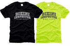 Bikini inspector miami beach-caballeros-t-shirt, talla s hasta XXL