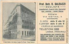 CARTOLINA d'Epoca: ROMA Citta': PUBBLICITARIA 1929