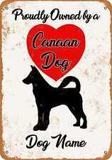 Metal Sign - Custom Dog Name - Canaan Dog 2 - Vintage Look