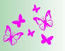 Schmetterlinge Aufkleber 6 Stück - Wandtattoo - Wand - Deko - Sticker